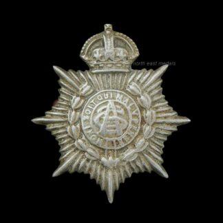 Army Service Corps Volunteer/Territorial White Metal Collar Badge