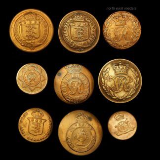 Assorted Corps and Misc Uniform Buttons Including Victorian