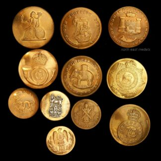 11 Assorted British Army Uniform Buttons