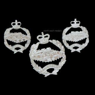 Royal Tank Regiment Staybrite Cap and Collar Badges