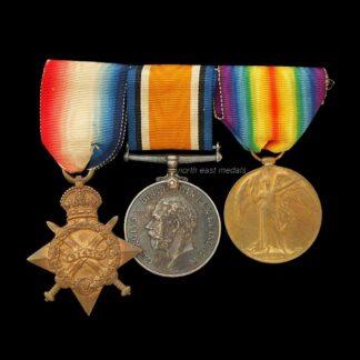 1914-15 Star Medal Trio Sandall, Royal Fusiliers